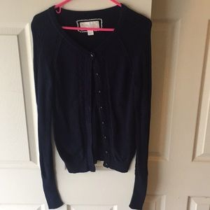 American Eagle Outfitters Navy Cardigan Sweater